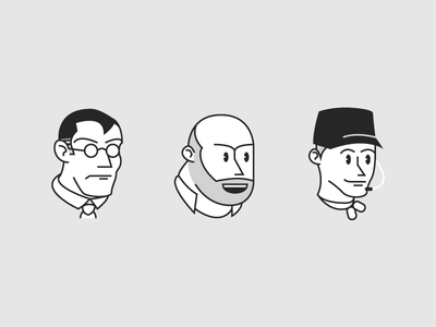 1930s Medic, Heavy, Scout gaben scout heavy medic valve grayscale illustration character avatars orisa tracer mercy classic vintage eye pie cartoon team fortress 2 cuphead tf2