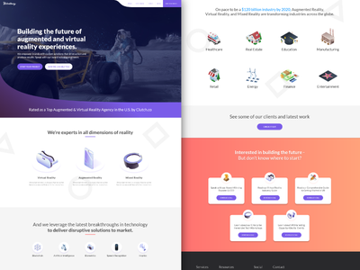 Homepage Touchup illustration vr web clean cards homepage isometric landing page ux ui site design design service virtual reality