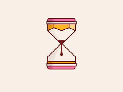 Time Well Spent tan eraser timer simple concept abstract time texture clock sand noise grain stipple shading pen tool illustration vector pen pencil hourglass