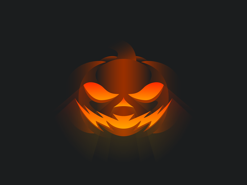 Vectober: The Jack 'O Lantern spice fall autumn october orange trick or treat spooky rays glow clean simple illustration vector carving halloween dramatic gradient lighting pumpkin jackolantern
