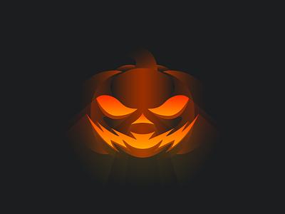 Vectober: The Jack 'O Lantern spice fall autumn october orange trick or treat spooky rays glow clean simple illustration vector carving halloween dramatic gradient lighting pumpkin jackolantern