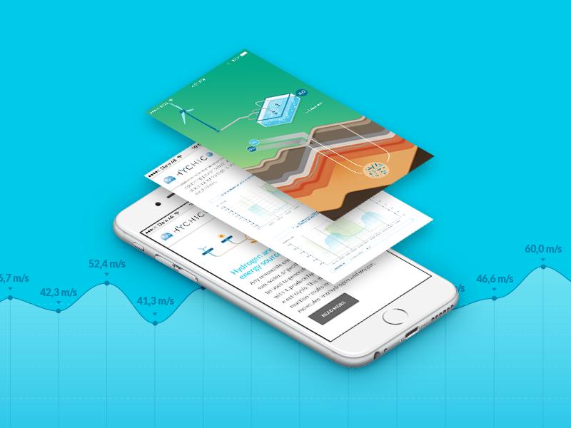 Sustainable energy - Data visualization and responsive website visualization data mobile app statistics design website responsive graphics infographics energy sustainable