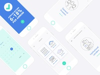 Finance app platform screens