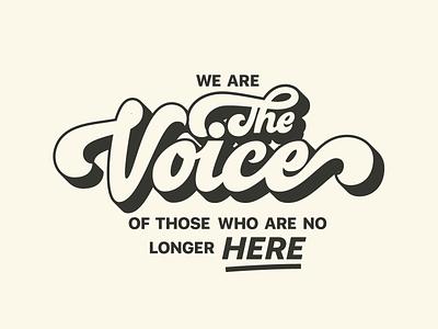 WE ARE THE VOICE quote design protest voice feminine design feminist feminism procreate vector type lettering typography design