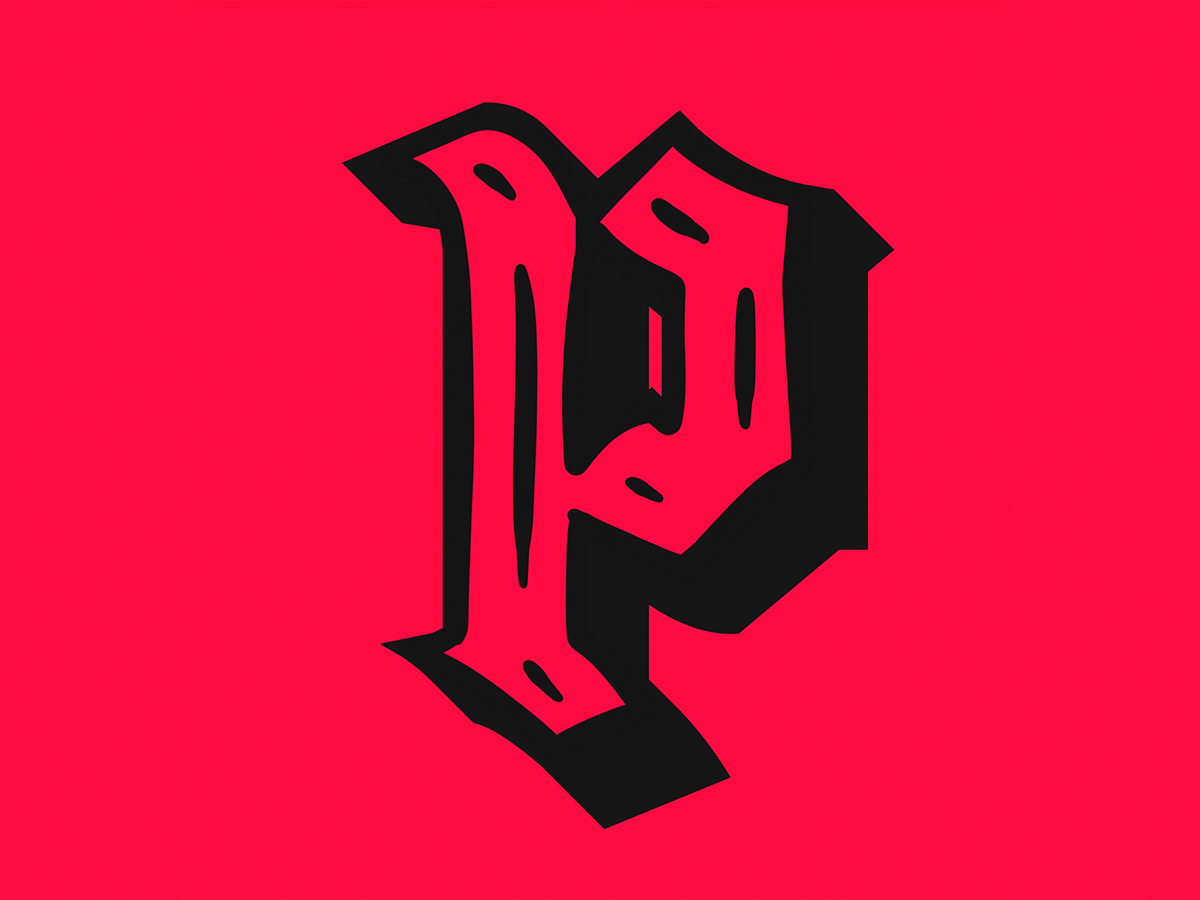 P p illustrator gothic fraktur 36daysoftype procreate vector type typography lettering illustration design