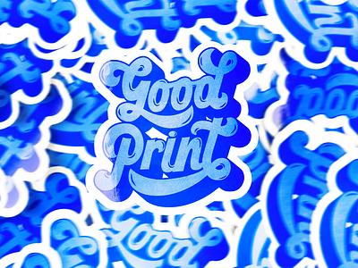 Good Print blueprint blue reflex texture groovy serigraphy prints print stickers typography lettering type design illustration