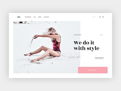 Swimwear Store beach bikini clean minimal pastel ecommerce store fashion