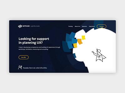UX Expert's website illustration drawing workshops courses animation ui website mentor ux