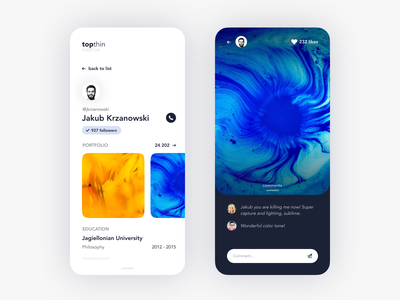 Social Networking App For Sharing Photos round simple user interface camera ui ux curvy modern clean mobile app social designers photo