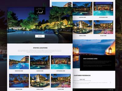 Resort Website Concept