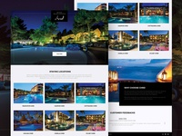Resort Website Concept