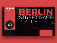 Racing Event Landing Page