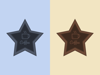 Free 2 Colors Badge PSD
