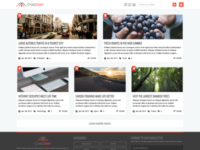 Free PSD - Homepage News Theme