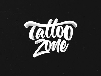 Tattoo Zone Calligraphy Logo