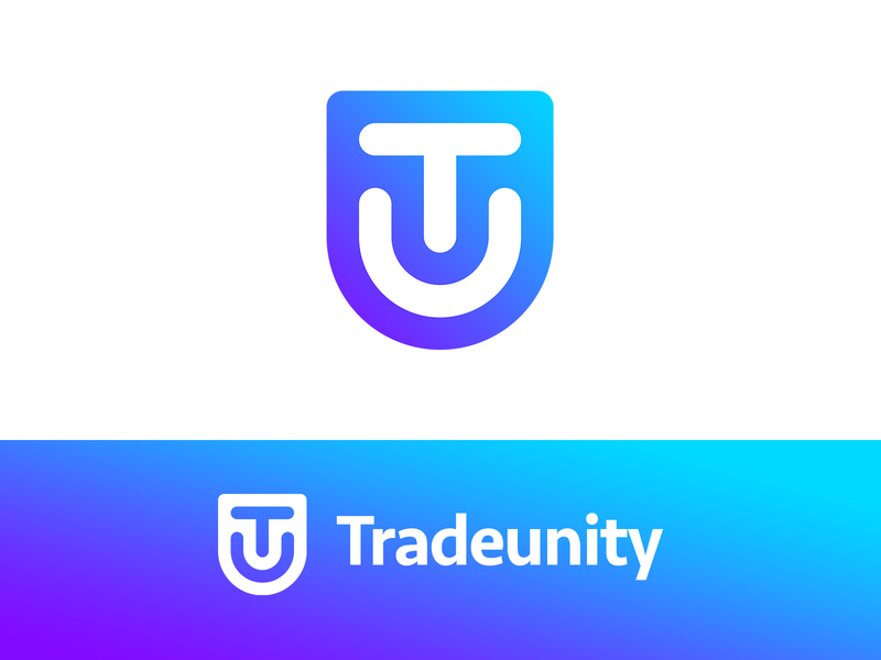 Tradeunity Crypto Community Logo tradeunity community flat sgdiz violet purple blue minimal logotype logo cryptocurrency crypto bitcoin trading unity trade