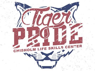 Tiger Pride T-shirt tshirt design logo envy skills life chisholm pride tiger