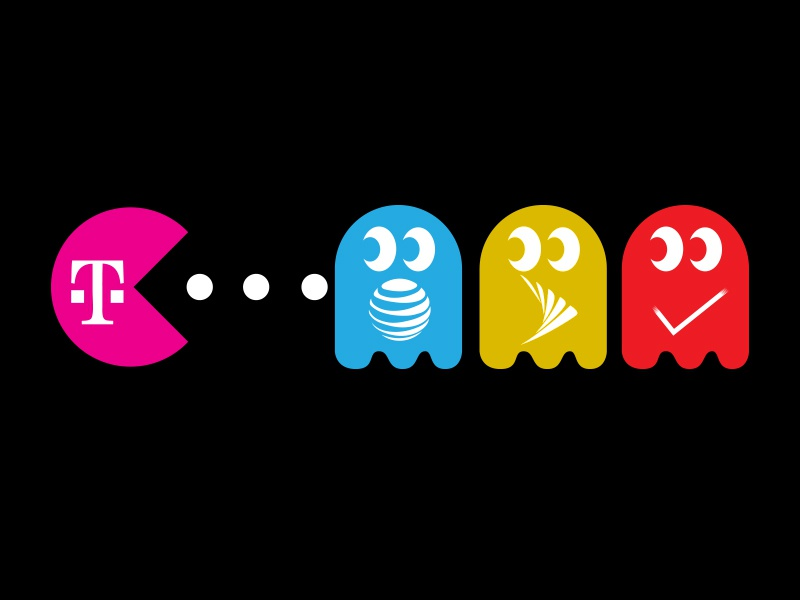 T-Mobile Pacman Brands by Colby Newman on Dribbble