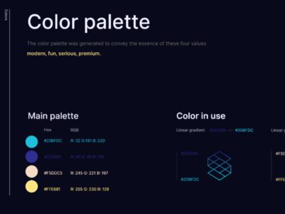Color pallette for Skwerz logo design ux ui visual identiy brand color logo app