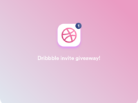 1x Dribbble invite giveaway !