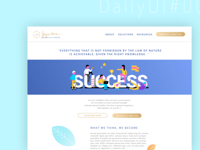 self-help page concept