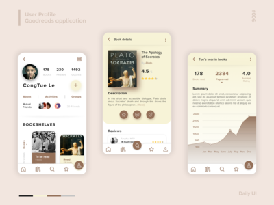 User Profile Daily Ui challenge