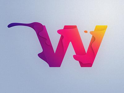 W gradients typography w 36daysoftype-w 36daysoftype