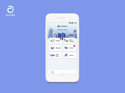 Athena: Financial Approval App financial app mobile apps mobile app design vector illustration ui design mobile ui mobile app