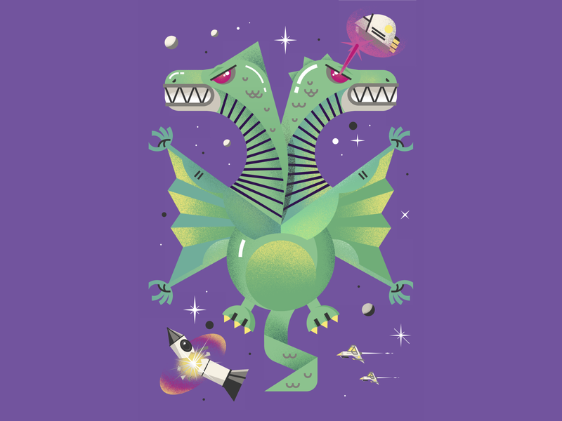 Space Monsters - Duo-Dragon!