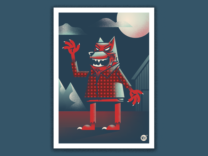 Classic Monsters - Wolf Guy! wolf classic horror scary wolfman illustration monster horror