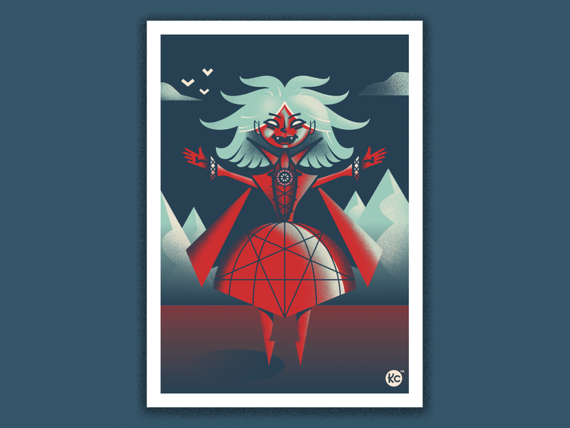 Classic Monsters - Hellsa the Witch! evil witch scary monster illustration horror classic horror