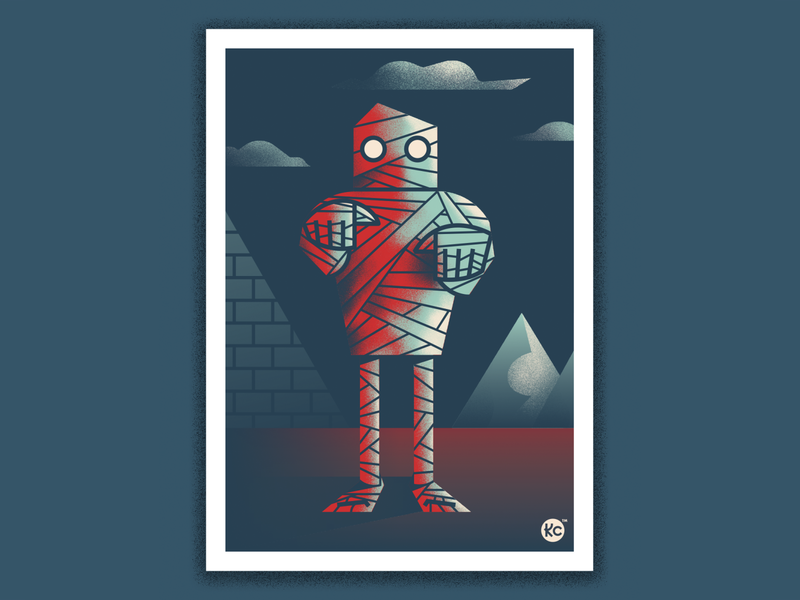 Classic Monsters - Mummy! ancient mummy scary monster illustration horror classic horror