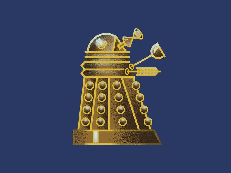Mini Monsters - Dalek illustration exterminate sci-fi sci fi doctor who dalek