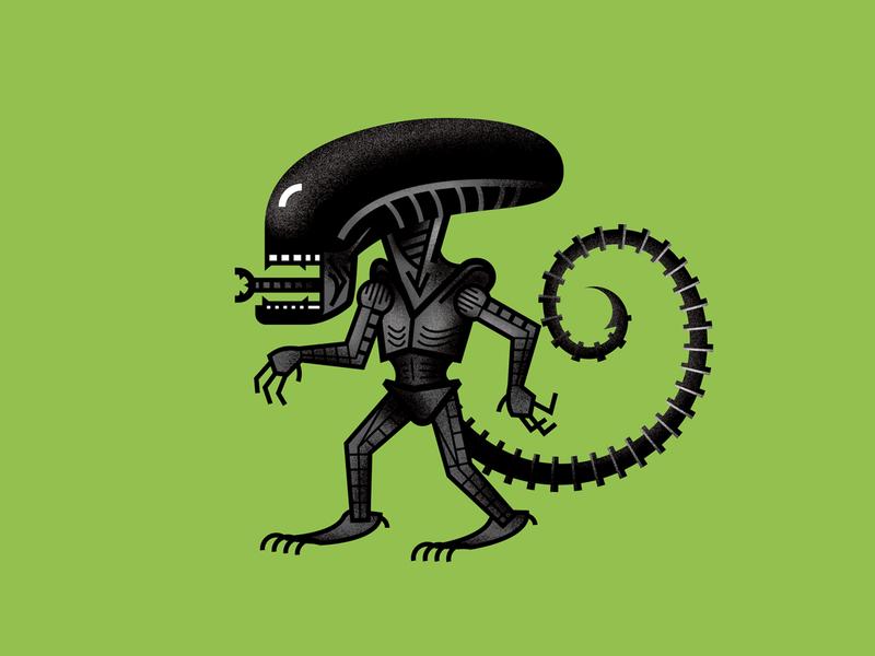 Mini Monsters - Xenomorph aliens illustration ripley xenomorph alien monster