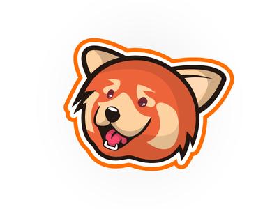 Little bit improved Red Panda Mascot logo red panda mascot logo illustration design logo