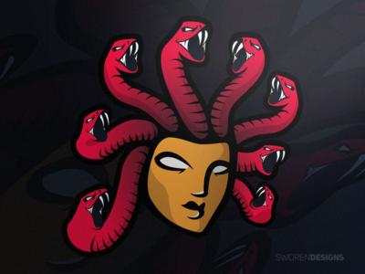 Medusa Mascot Logo queen snake illustrator logo mascot medusa