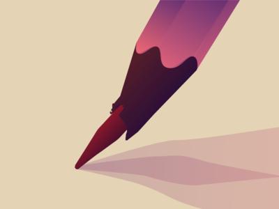 Every artist has the same problem original sworen pen pencil gradient 2d illustration playoff dribbble
