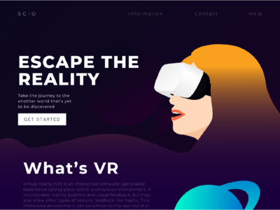 S C I O ui gradient icon virtual reality vr pagecloud gradient webdesign web design illustrator illustration craftedwithpagecloud