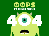Monsters Inc 404