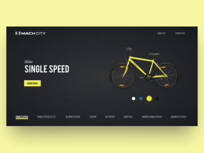 Mach City Cycles - Web Landing Page