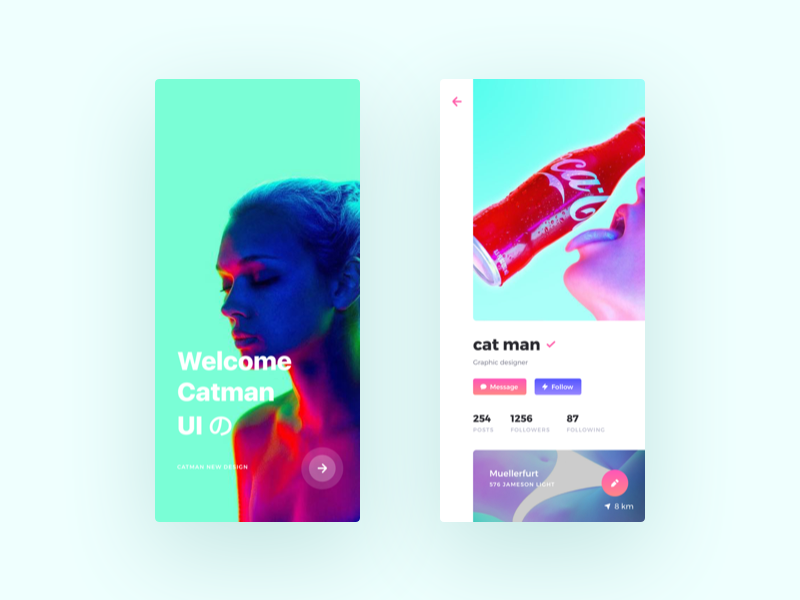 Unreal ui fashion app design
