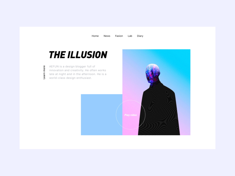 the illusion 2 leave design fashion