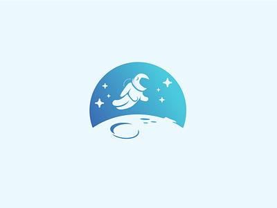 Spaceman logo exploration academy space planet cosmos logo astronaut spaceman
