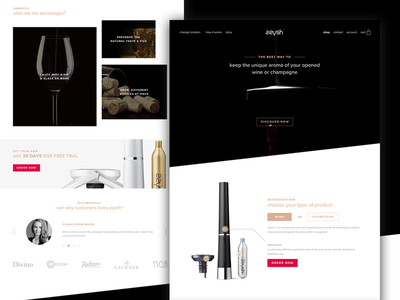 Zzysh shop redesign concept web design black and white cart redesign ecommerce champagne