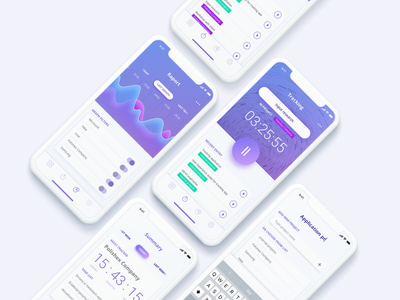 Vicunia Time Tracker time tracker clean app tracker application mobile