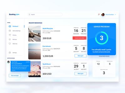 Booking.com Skyboard user panel travel sky panel dashboard booking.com booking application