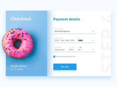 Credit card checkout - daily UI daily ui credit card shopping blue e-commerce checkout