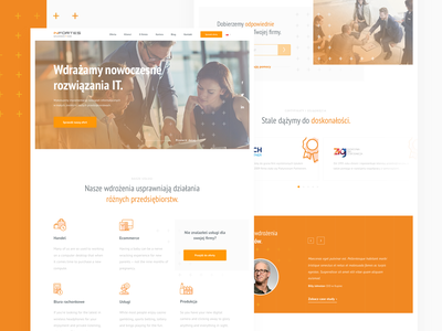 Infortes - IT Solutions services it uxui ui ux orange web design home page