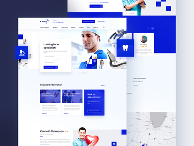 Medical Clinic — homepage light ui clinic medical blue web design ui ux