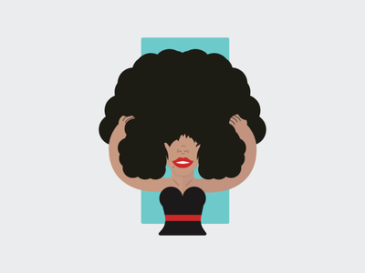 Big Hair female woman avatar curly hair hair logo